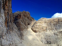 Path Alfredo Benini in the Brenta Dolomites mountains in Italy Royalty Free Stock Photography