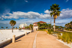 Path along the beach in Clearwater Beach, Florida. Royalty Free Stock Images