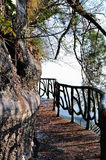 The path along the cliff Stock Photography