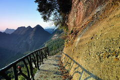The path along the cliff Royalty Free Stock Photography