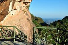 The path along the cliff Stock Photos