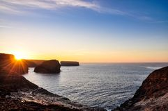 Path along the cliffs of Kilkee in Ireland. Tourist attraction Royalty Free Stock Image