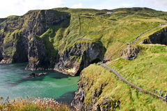 Path along the coast at The Carrick a rede in Northern Ireland Stock Image