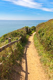 Path along the coastline in carteret, Normandy Royalty Free Stock Images