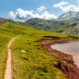 Path along the Estanes lake Royalty Free Stock Photos