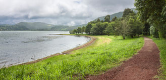 Path along Furnas Lake in Sao Miguel, Azores Royalty Free Stock Photography