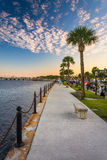 Path along the Matanzas River in St. Augustine, Florida. Royalty Free Stock Photos