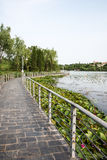 The path along Mingjing lake Royalty Free Stock Images