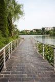 The path along Mingjing lake Stock Image