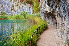 Path Along Mountain Lake Royalty Free Stock Photo