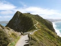 Path along ridge over coastline Stock Photography