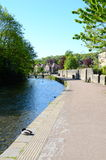 The path along the River Wye at Bakewell Stock Image