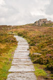 Path along The Roaches, Staffordshire Stock Image