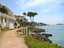 Path along rural coast near Alcudia, Majorca, Spain Royalty Free Stock Photos