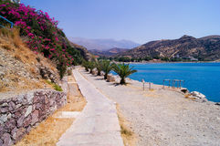 Path along the sea, Crete Royalty Free Stock Photos