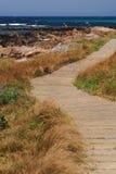 Path along the shore stock photo