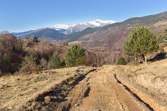 Path along Vall de Ribes in the Pyrenees Stock Photo