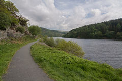 Path Alongside a Wooded Lake Royalty Free Stock Photography