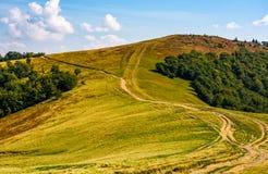 Path through alpine mountain ridge Stock Images