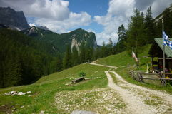 Path in Alps Royalty Free Stock Photos