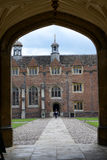 Path Through Arch to St Johns College Courtyard Stock Image
