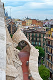 Path Through Archway on Rooftop of Casa Mila Stock Photo