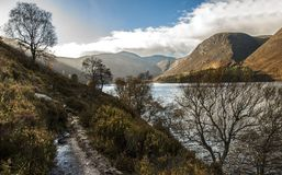 Path around Loch Muick. Cairngorms National Park, Scotland, UK. stock image