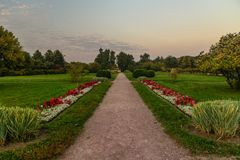 Path in the autumn park Royalty Free Stock Photos