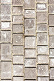 Path background fragment. Path made of small grey bricks. Stock Photography