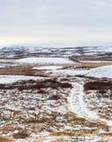 Path Into Barren Landscape Stock Photos