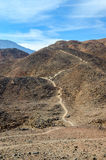 Path in the barren Sinai mountains Stock Photo