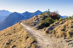Path in Bavarian Alps Stock Photography
