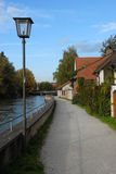 Path beside Bavarian river Stock Images