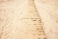 Path at the beach Stock Images