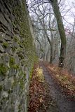 Path behind the ancient wall Stock Image