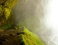 Path behind the Icelandic waterfall Royalty Free Stock Photos