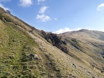 Path below Brock Crag, Lake District Royalty Free Stock Photography