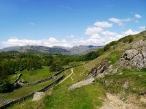 Path below Loughrigg Fell, Lake District Royalty Free Stock Photography