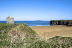 Path and benches to Ballybunion beach Stock Images