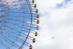 Path of big funfair ferris wheel Stock Photo