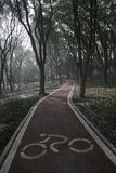 The path. The bike path by the lake of Wuhan of China,the most biggest lake in city Stock Photography