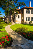 Path and building at Flagler College, in St. Augustine, Florida. Stock Image