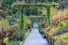 Path in butchart gardens Stock Photography