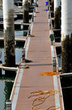 Path byboard on dock. Path on dock by board, shown as maritime activities, sport or entertainment, or different access and pah or way Stock Photos
