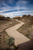 Path in Cap de Creus. Photography of a path in Cap de Creus rocks, Costa Brava, Catalonia, Spain Royalty Free Stock Photo