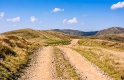Path through the Carpathian mountain ridge Stock Photo