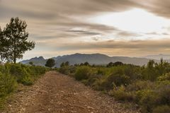 Path in Castellon, Spain. Hiking trail in Castellon, Spain Royalty Free Stock Image