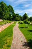 Path through a cemetery Stock Photography