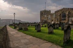 Path in a Cemetery, England Stock Photos