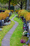 Path on cemetery. Royalty Free Stock Photography